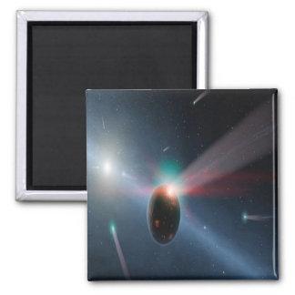 Comet Storm 2 Inch Square Magnet