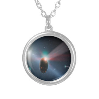 Comet Storm Charm Silver Plated Necklace
