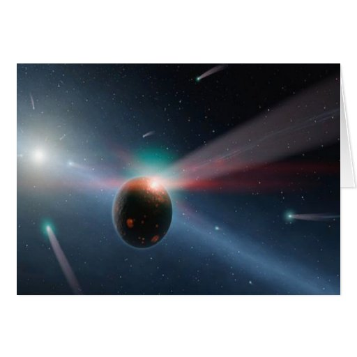 Comet Storm Greeting Cards