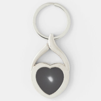 Comet Tempel 1 - 1 Hour, 4 Minutes Impact Silver-Colored Heart-Shaped Metal Keychain