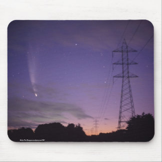Comet & the Power Lines Mouse Pads