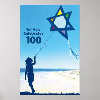 cometa 100 de Tel Aviv Póster