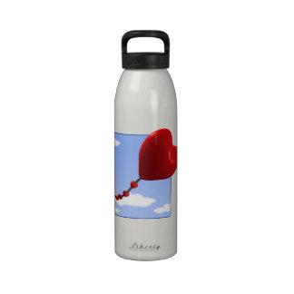 Cometa 2 del corazón botellas de agua reutilizables