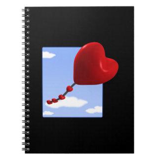 Cometa 2 del corazón libreta espiral