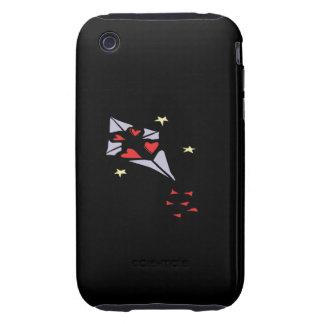 Cometa 3 del corazón tough iPhone 3 protector