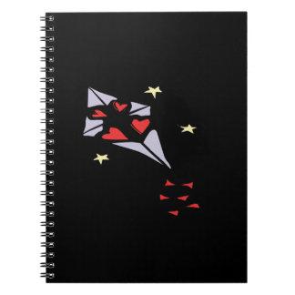 Cometa 3 del corazón cuaderno