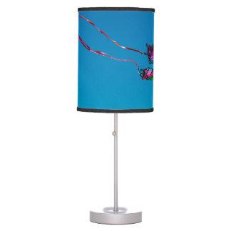 Cometa azul de la mariposa lámpara de mesilla de noche