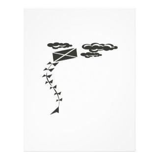 Cometa blanco y negro flyer personalizado
