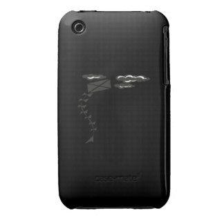Cometa blanco y negro iPhone 3 fundas
