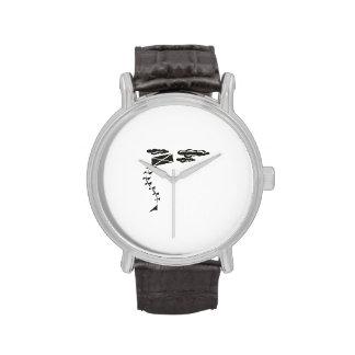 Cometa blanco y negro relojes de mano