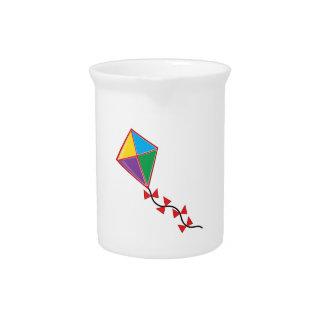Cometa colorida jarras de beber