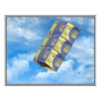 Cometa de caja en el cielo