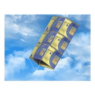 Cometa de caja en el cielo flyer personalizado