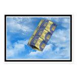 Cometa de caja en el cielo tarjetas de visita