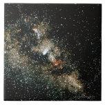 Cometa de Halleys en la vía láctea Azulejos Cerámicos
