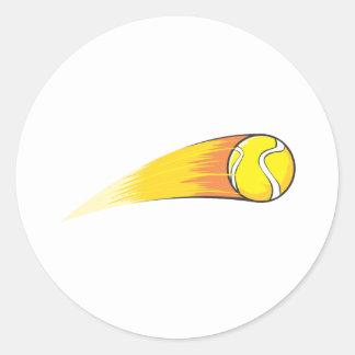 Cometa de la pelota de tenis etiquetas redondas