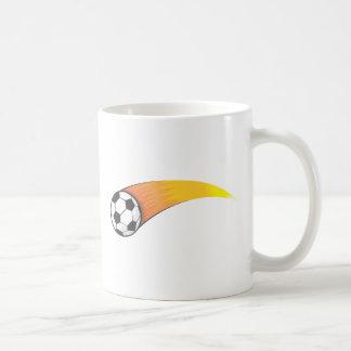 Cometa del balón de fútbol tazas