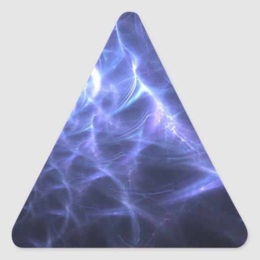 Cometa del caracol pegatina triangular