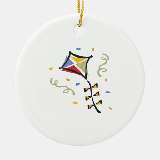 Cometa del confeti adorno redondo de cerámica