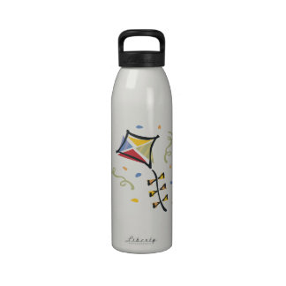 Cometa del confeti botella de agua reutilizable
