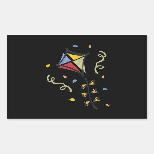 Cometa del confeti pegatina rectangular