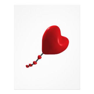 Cometa del corazón tarjeta publicitaria
