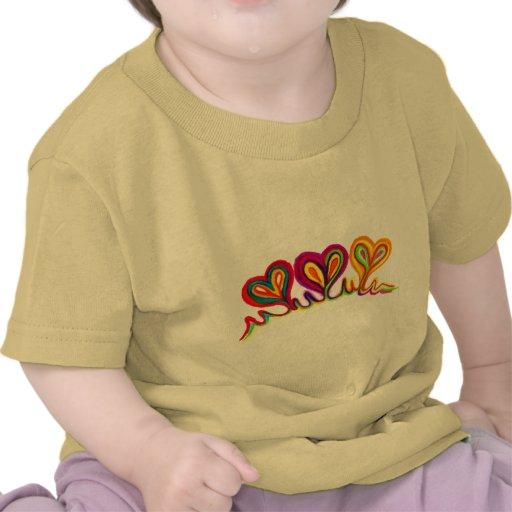 Cometa del extracto del corazón del amor camiseta
