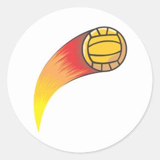Cometa del voleibol etiqueta