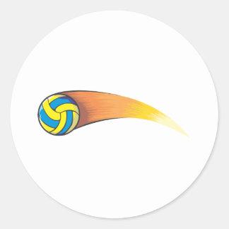 Cometa del voleibol pegatina redonda