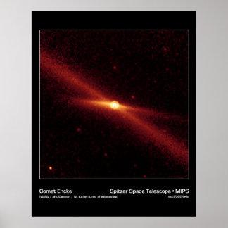 Cometa Encke - telescopio espacial de Spitzer Impresiones