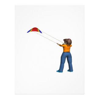 Cometa femenina del vuelo flyer a todo color