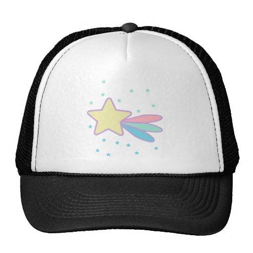 Cometa lindo de la estrella fugaz gorras de camionero