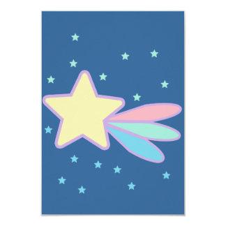 """Cometa lindo de la estrella fugaz invitación 3.5"""" x 5"""""""