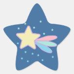 Cometa lindo de la estrella fugaz calcomania forma de estrella
