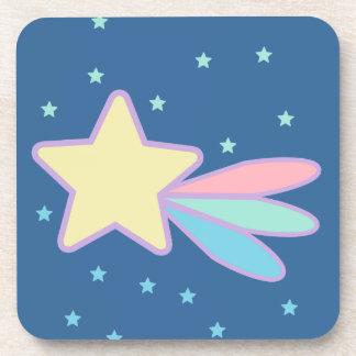 Cometa lindo de la estrella fugaz posavasos