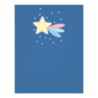 Cometa lindo de la estrella fugaz tarjetones