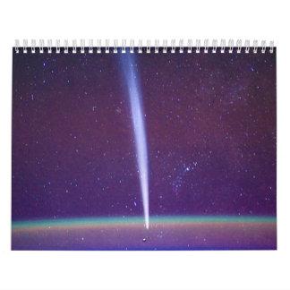 Cometa Lovejoy cerca del horizonte de la tierra Calendario