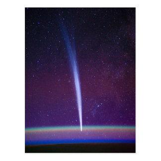 Cometa Lovejoy cerca del horizonte de la tierra Postales