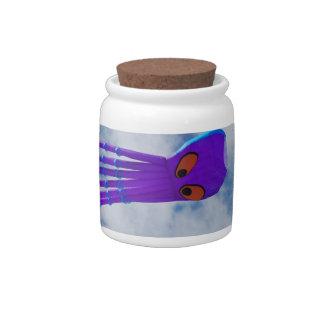 Cometa púrpura del pulpo jarra para caramelo