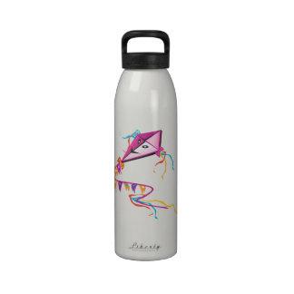 Cometa púrpura festiva botellas de agua reutilizables