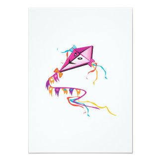"""Cometa púrpura festiva invitación 5"""" x 7"""""""