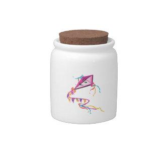 Cometa púrpura festiva jarra para caramelo