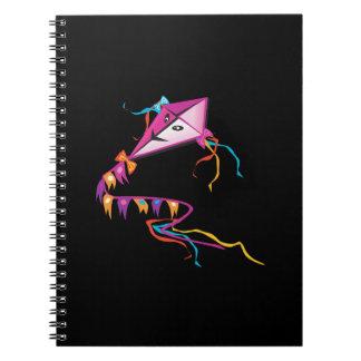 Cometa púrpura festiva libretas espirales