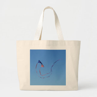 Cometa roja, blanca, y azul bolsas de mano