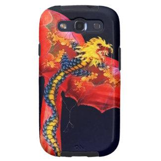 Cometa roja del dragón galaxy SIII fundas