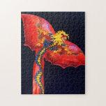Cometa roja del dragón puzzles