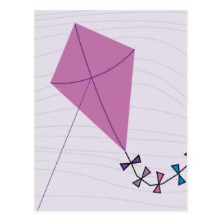 Cometa rosada postal