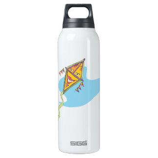 Cometa sonriente botella isotérmica de agua