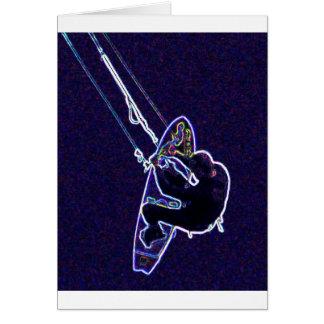 Cometa surfer2 tarjeta de felicitación
