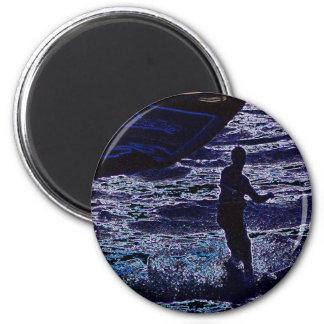Cometa surfer3 imán de frigorifico